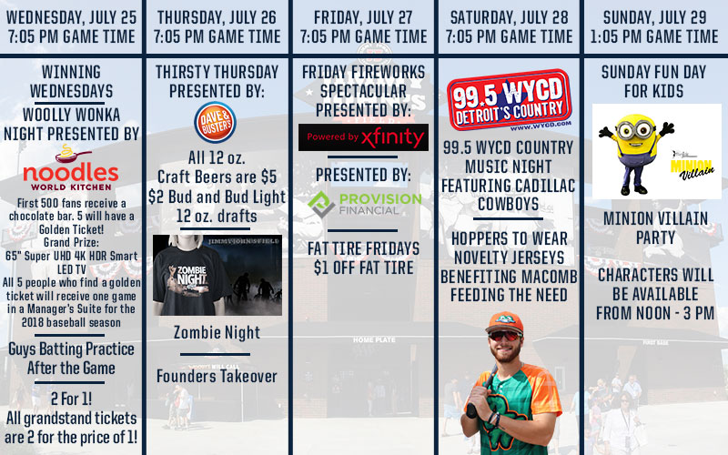 Upcoming Promotions – July 25-29 – United Shore Professional
