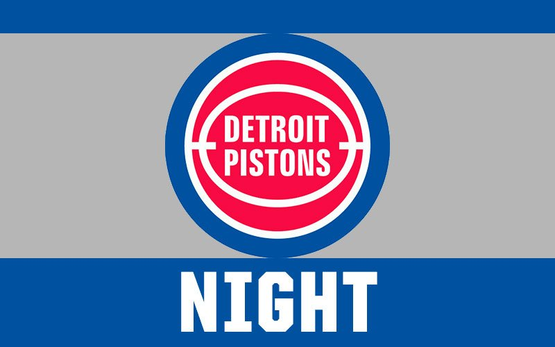graphic regarding Detroit Pistons Printable Schedule identified as Detroit Pistons Evening United Shore Well-informed Baseball