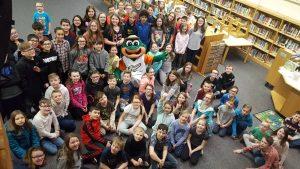 Ribbi visits Naldrett Elementary.